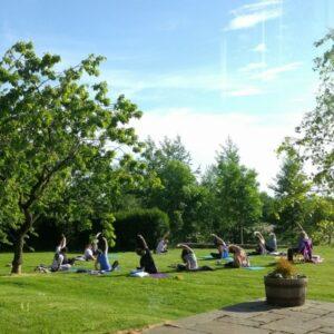 yoga outside under the sun